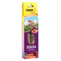 Snacks para coelhos GimBi Sticks com cenoura e feno