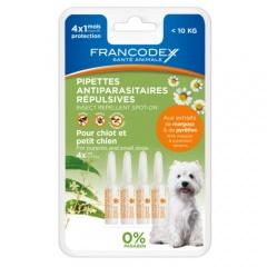 Pipetas antiparasitárias naturais para cães Francodex