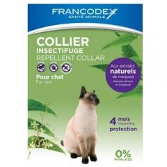 Coleira antiparasitária natural para gatos Francodex