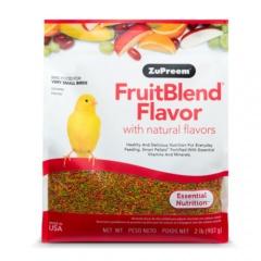 Ração Zupreem FruitBlend para pássaros muito pequenos