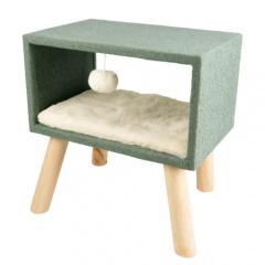 Cama Scandi Cube com pernas para gatos