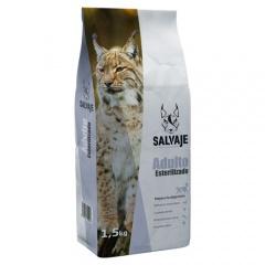 Ração Salvaje Adulto Esterilizado para gatos