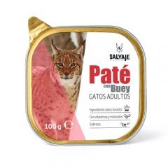 Terrina de Patê Salvaje com carne de vaca para gatos