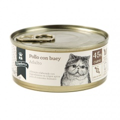 Alimento húmido para gatos Criadores Adulto de carne de vaca