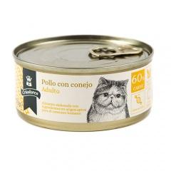 Alimento húmido para gatos Criadores Adulto de frango com coelho