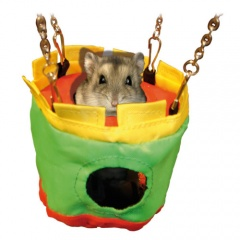 Casa de nylon pendurada para pequenos roedores