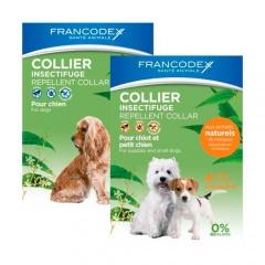 Coleira antiparasitária natural para cães Francodex