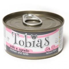 Comida húmida natural de frango e cordeiro Tobias cão