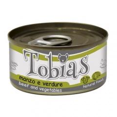 Comida húmida natural de vitela e verduras Tobias cão