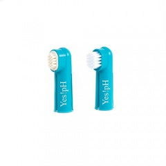 Kit escova de dentes e massajador dental para cães Yes!pH