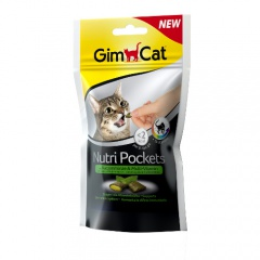 Snacks para gatos GimCat Nutri Pockets com erva-gateira e multivitaminas