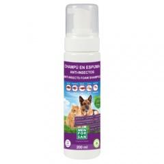 Menforsan champô em espuma anti-insetos para cães e gatos