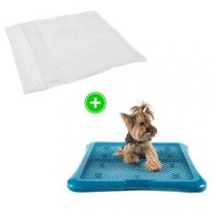 Pack cachorro: empapadores com aroma a limão e bandeja sanitária para cães TK-Pet