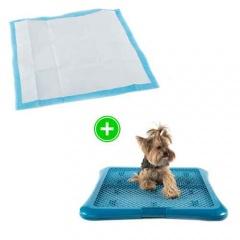 Pack cachorro: empapadores elimina cheiros e bandeja sanitária para cães TK-Pet