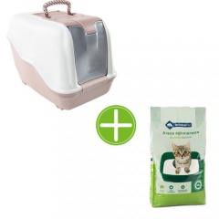 Pack TK-Pet higiene gatos: bandeja Atenea areia bentonita