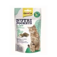 Snacks para gatos GimCat Nutri Pockets com erva-gateira e multivitaminas