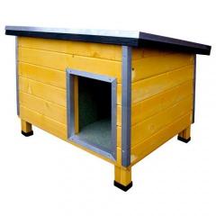 Casota robusta de madeira para cães Nevada Amarelo