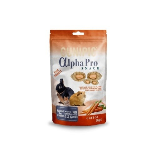 Cunipic Alpha Pro Snack Carrot para roedores